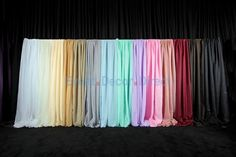 10ft wide x 12ft long Sheer Voile Curtain Panel w/ 4 Pockets - Event Decor Direct - North America's