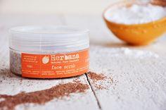 Facial scrub for Oily & Combination skin, Exfoliator, Organic Facial Scrub , Natural Facial Care, Skin Care, Peeling by Herbana cosmetics  Deep