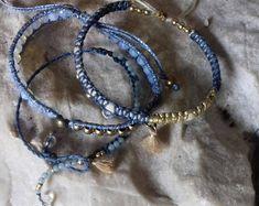 macrame set bracelets,  boho alternative design, light jewelry
