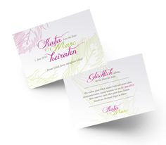 Romantische Save the Date Karte mit Federn. Save The Date Karten, Designer, Place Cards, Dating, Place Card Holders, Feathers, Card Wedding, Getting Married, Invitations