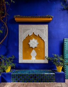 Villa Majorelle, Marrakech, Morocco by Batistini Gaston Moroccan Design, Moroccan Tiles, Moroccan Decor, Morrocan Patterns, Moroccan Stencil, Marrakesh, Marrakech Morocco, Marrakech Travel, Morocco Travel