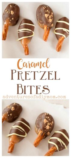 Pretzels dipped in delicious caramel and then chocolate. These yummy treats are perfect to gift to neighbors during the holiday season. Informations About Caramel & Chocolate Covered Pretzel Bites Pin Chocolate Dipped Pretzels, Chocolate Caramels, Chocolate Sprinkles, Chocolate Candy Recipes, Chocolate Treats, Chocolate Chips, Bon Dessert, Oreo Dessert, Dessert Chocolate