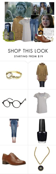 """""""Raggedy Man, Goodbye"""" by jleigh329 ❤ liked on Polyvore featuring Gucci, Whistles, Paul by Paul Smith, OPI, Dune Black and Allison Daniel"""