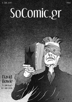 Commemorative cover I just illustrated for the first anniversary of David Bowie's death (8 Jan 1947-10 Jan 2016). VIEW HERE: socomic.gr/socomic-gr-david-bowie-one-year-after #Bowie #DavidBowie #ZiggyStardust #AladdinSane #Blackstar #comics #conchrisoulis #greekcomics #Illustration #graphicnovel #manga