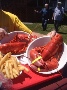 The Lobster Pool Rockport MA our favorite place for lobster and lobster  bisque. Had a