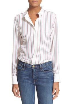 Frame Denim 'Le Classic' Stripe Silk Blouse available at #Nordstrom
