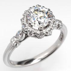 Tacori Dantela with 20 round brilliant cut diamonds surrounding the