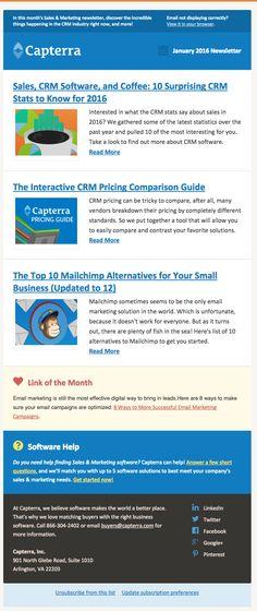 Capterra newsletter email