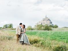 Photography : love is my favorite color Read More on SMP: http://www.stylemepretty.com/destination-weddings/france-weddings/2016/07/07/fairytale-engagement-shoot-at-mont-saint-michel/