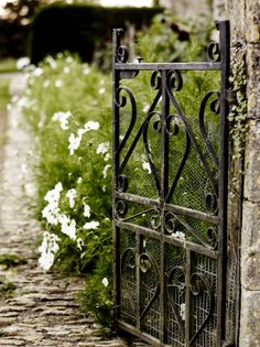 Wrought Iron Adds An Elegance To The Garden..