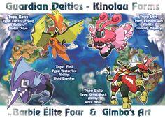 Guardian Deities Kinolau Form (collab) by gimbo-gp on DeviantArt Pokemon Fake, Pokemon Fusion Art, Pokemon Fan Art, Cool Pokemon, Pokemon Stuff, Pokemon Breeds, Pokemon Memes, Les Lolirock, Pokemon Rayquaza