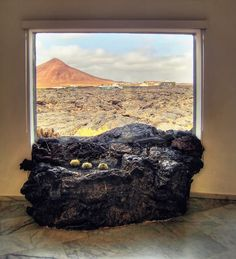 Lava field protrudes in the interior of Cesar Manrique's house on Lanzarote Places Around The World, Around The Worlds, Renaissance Time, Canary Islands, Nice View, Geology, Lava, The Good Place, Places To Go