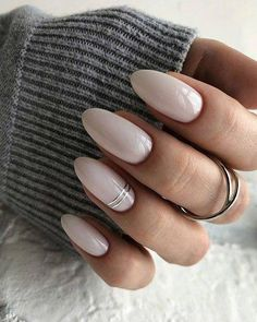 Make an original manicure for Valentine's Day - My Nails Perfect Nails, Gorgeous Nails, Pretty Nails, Classy Nails, Stylish Nails, Milky Nails, Ten Nails, Neutral Nails, Minimalist Nails