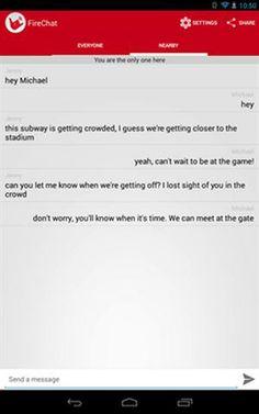 Publicidad y Propaganda 2008: Cómo es FireChat, la aplicación que permite chatea...