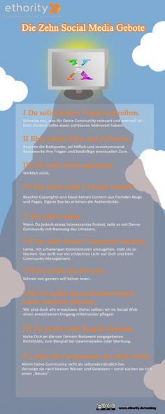 Die Zehn Social Media Gebote für @andreame und @clemens_milotta (weil's eine Infografik ist)