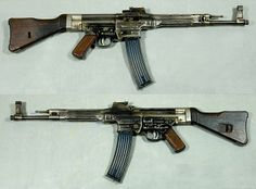 STG-44. The first real assault rifle. This gun is the Grand-Daddy of most modern standard issue firearms.