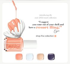 introducing the essie 2014 resort collection resort fling find me an oasis cocktails and coconuts under the twilight ''I suggest you come ou...