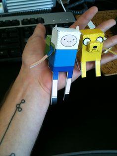 illustrativo • szakall: faerietales: paper craft Finn & Jake...