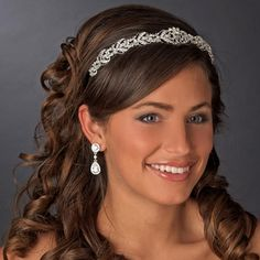 Ornate Crystal Bridal Headband affordableelegancebridal.com