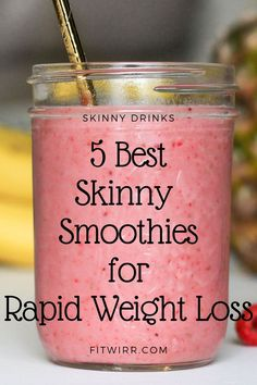 5 Best Smoothie Recipes for Weight Loss - 5 skinny smoothies for rapid weight l. 5 Best Smoothie Recipes for Weight Loss - 5 skinny smoothies for rapid weight loss. these healthy, nutritious and del Weight Loss Meals, Weight Loss Drinks, Weight Loss Smoothies, Fast Weight Loss, How To Lose Weight Fast, Shakes For Weight Loss, Weight Loss Protein Shakes, Fat Burning Smoothies, Best Weight Loss Foods