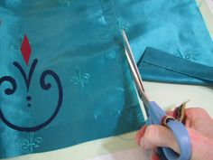 Elsa's Coronation Dress - sewing - Andrea Schewe Design Elsa Coronation Dress, Elsa Dress, Princess Dress Patterns, Edge Stitch, Dress Sewing, Winter Dresses, Flare Skirt, Hand Stitching, Collars