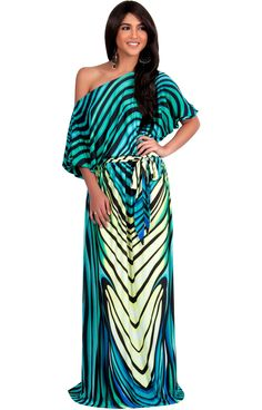 af18e0b52fb Shop for Koh Koh Women s One Shoulder Abstract Print Maxi Dress. Get free  delivery at Overstock - Your Online Women s Clothing Destination!