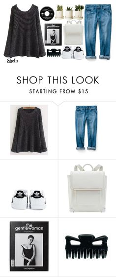 """""""Black Round Sweater"""" by rarranere ❤ liked on Polyvore featuring adidas"""