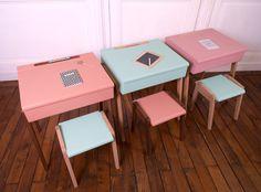 Bureau et petite chaise enfant vintage des idées douces l