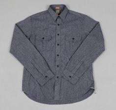 "TH-S & Co. ""Archival"" Work Shirt, Selvedge Covert Chambray, Indigo"
