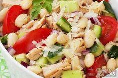 Receita de Salada de bacalhau com feijão branco em receitas de saladas, veja essa e outras receitas aqui!