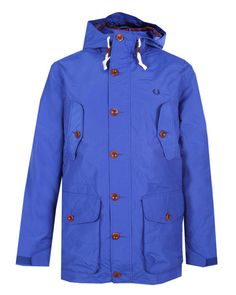 FRED PERRY AUTHENTIC Mens Blue MOUNTAIN PARKA
