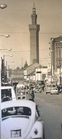 Dock tower looking down Freeman Street