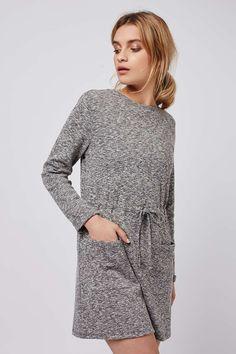 PETITE Drawstring Pocket Dress - Topshop