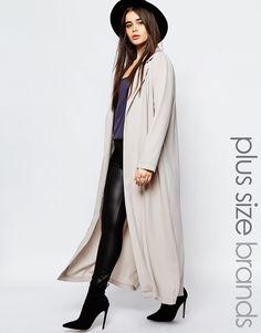 Missguided Plus Long Line Duster Coat