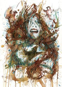 Portraits in Ink and Tea by Carne Griffiths » Design You Trust. Design, Culture & Society.