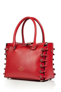 Valentino Red Buckled Tote....I'll take this one...thanks!