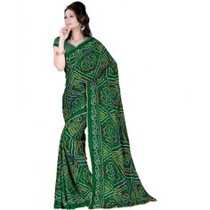 Green Printed Bandhani Saree At Girotra Store Opening - Buy Green Printed Bandhani Saree Online at Best Prices in India | Vendorvilla.com at just Rs.499/- on www.vendorvilla.com. Cash on Delivery, Easy Returns, Lowest Price.