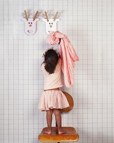 Kinderkapstok rendier | Fleurig en Kleurig