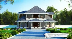 #Kerala Style #ModernVilla.... Facilities in this #houseplan Ground Floor:2819sqft Poomukham Sit out Pooja room Drawing room Pebble Area Office room Family Living Master Bed room  Bed room attached Dining Modular Kitchen W/A First Floor –1587 Sq.Ft. Balcony Bed room - 2Attached Total Area –4406SqFt
