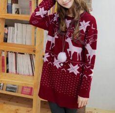 Maple Leaf Fuzzy Sweater