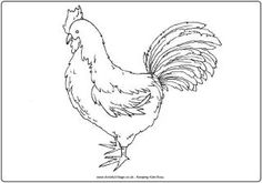 Rooster colouring page 2
