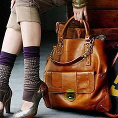 Trendy Woman s High Quality Brown Handbag With Brass Button    9 #Handbag #7showing Beautiful Handbags