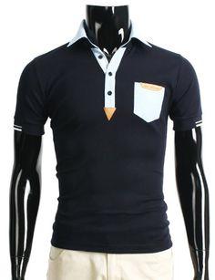 Doublju Mens Casual Breast Pocket Short Sleeve V-Neck T-Shirt NAVY XL (123D) for $27.13