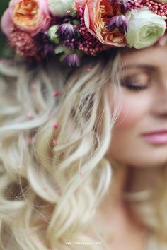 Flower Maiden. hippi hippy boho bohemian gypsy accessories. Hair flower wreath. For more follow www.pinterest.com/ninayay and stay positively #inspired