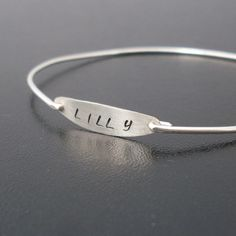 Personalized Handstamped Custom Name Bracelet  by FrostedWillow, $31.00