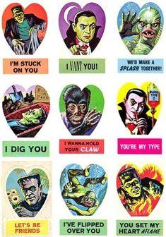 vintage horror valentines