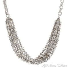 Rhodium Neckpiece - Ladylike Looks - South Africa - Fifth Avenue Collection - Jewellery that changes the way you see fashion Fifth Avenue Collection, South Africa, Jewels, Diamond, Jewellery, Fashion, Jewelery, Jewelery, Moda