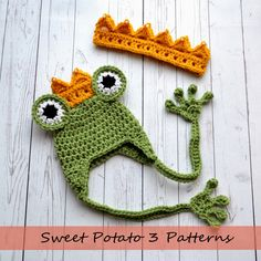 My Sweet Potato 3: Princess and the Frog Crochet Hat & Crown Pattern Release Perfect Sibling ( brother & sister ) Halloween Costume Idea