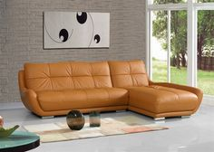 option to the zuri sectional comes in cherry red also Pelech Caramale Leather Sectional Sofa | home leather furniture chaise sofa sectional