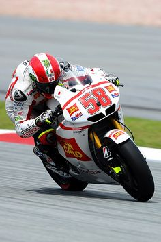 Marco Simoncelli,this guy was a legend in waiting,R.I.P. Marco,it was an honour to have seen you race,
